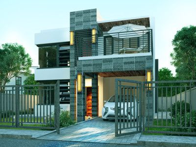 Modern house design phd 2015018 pinoy house designs for House garage design philippines