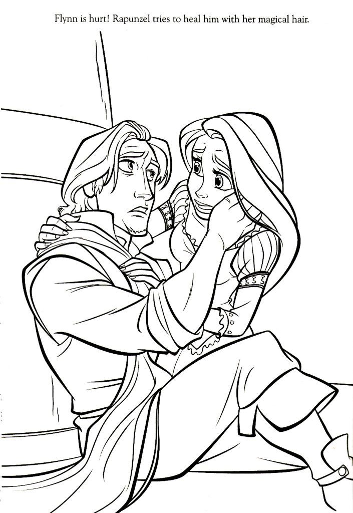 Rapunzel Coloring Pages   Pinterest   Rapunzel, Witches and Fairy