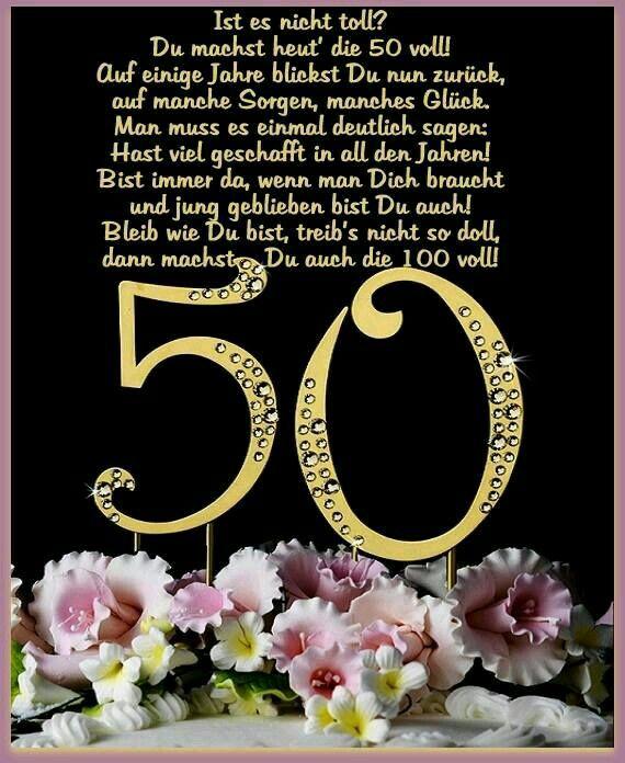 Pin Von Mellie Vosen Auf Geburtstag Geburtstagswunsche Zum 50
