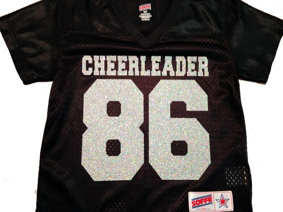 e33aaf80 Please read full listing details and review all photos prior to purchase.  *** Super sparkly glitter highlights this football-style jersey. Personalize  the ...