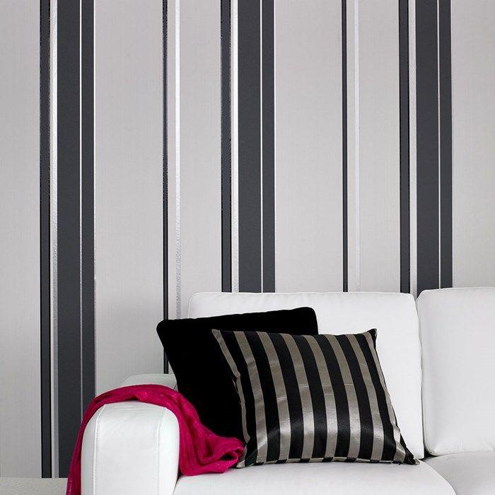 Gradient Striped Wallpaper Designer Stripes Wall