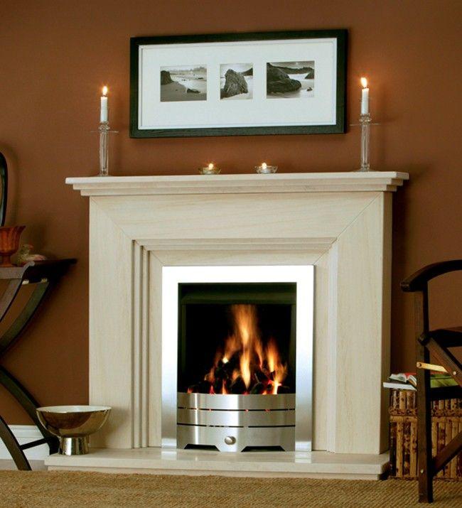 Katia Limestone Fireplace