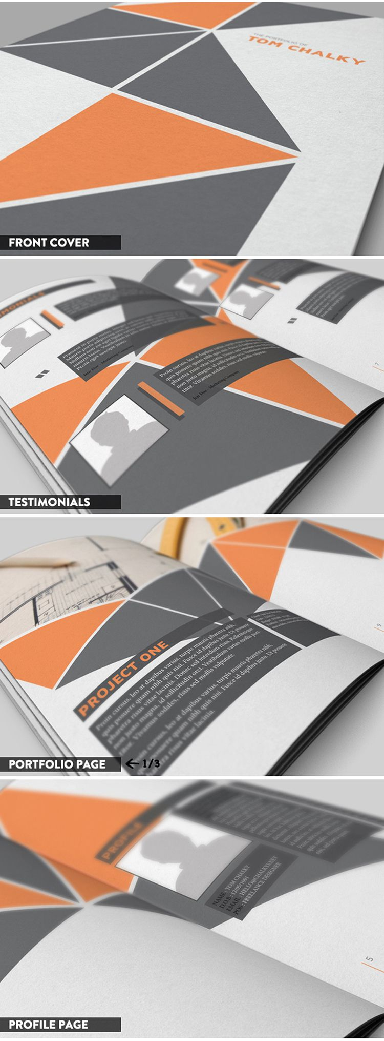 Free  Page Case Study  Portfolio Booklet Download Indesign