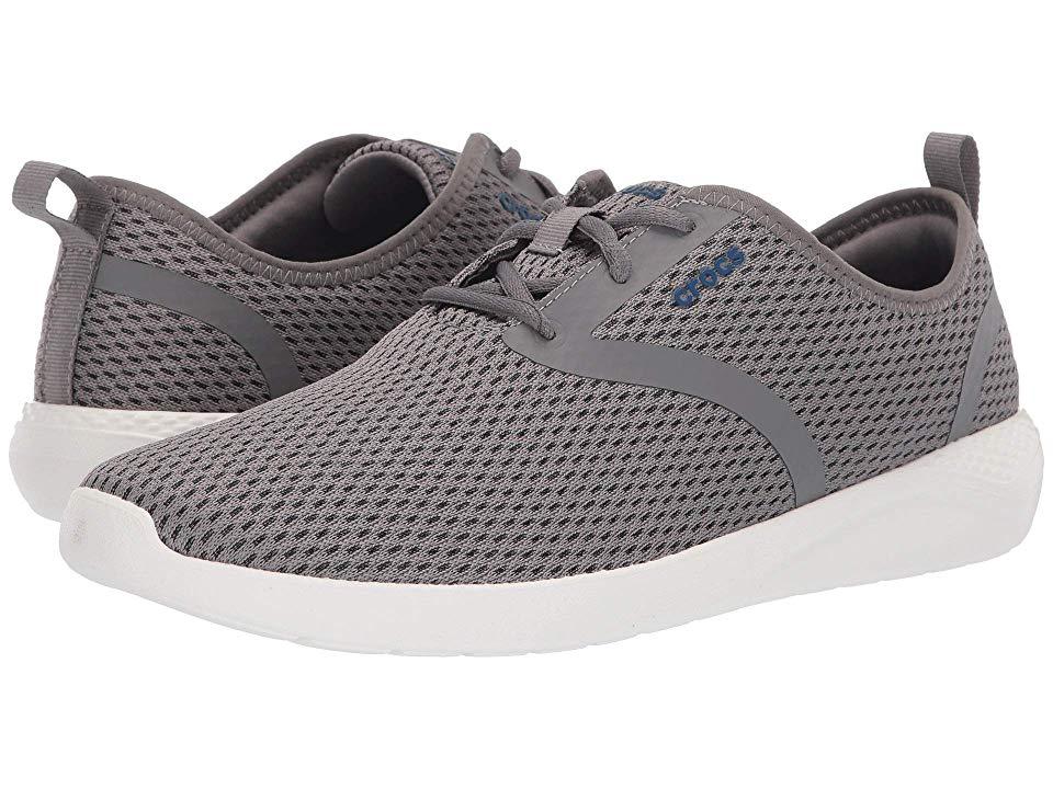 Crocs LiteRide Mesh Lace Men's Shoes SmokeWhite   Crocs