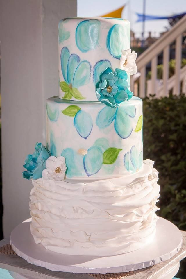 Our Beautiful Wedding Cake By Imaginary Cakes In Wilmington Nc Beautiful Wedding Cakes Wedding Cakes Beach Wedding