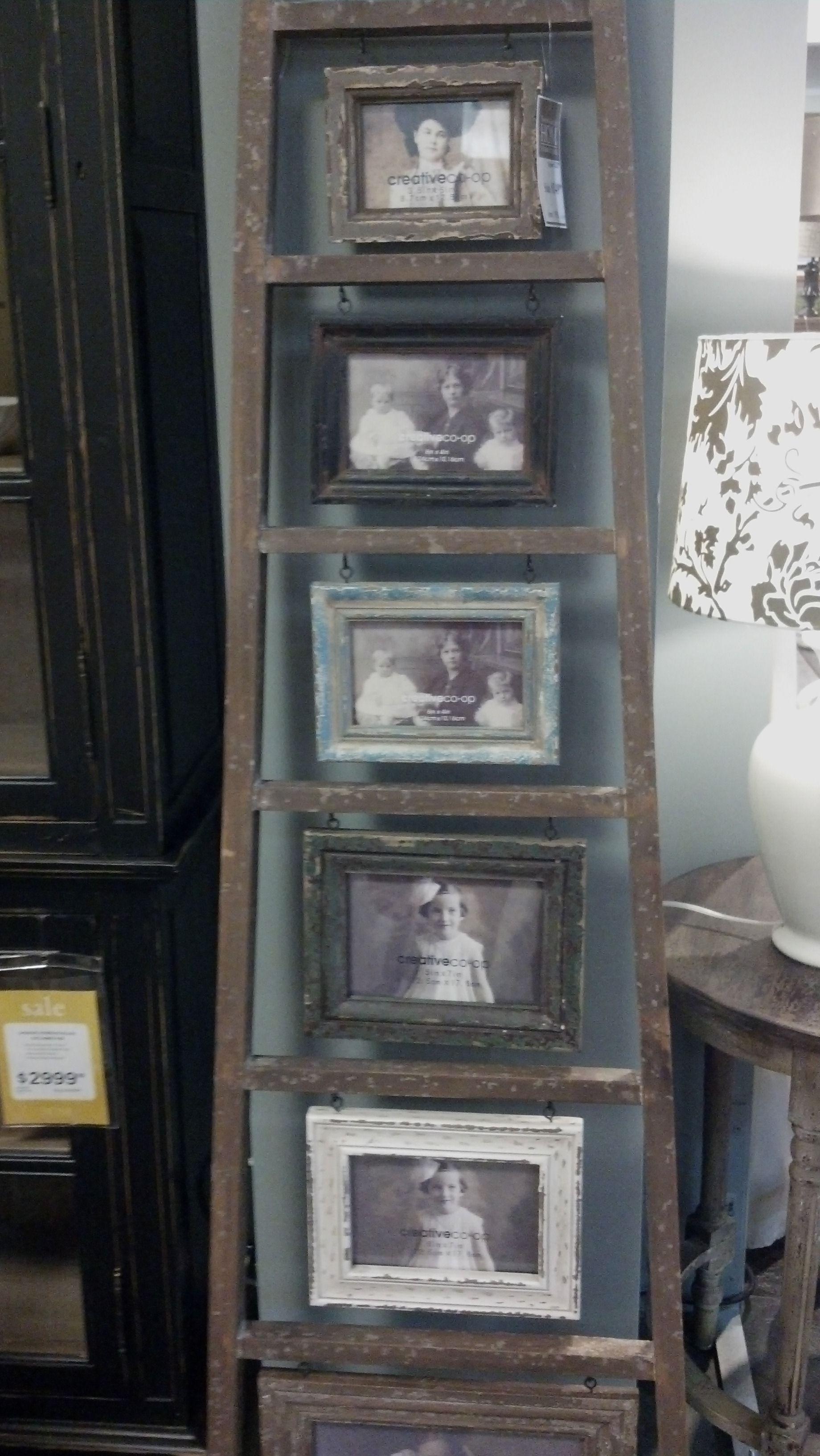 Ladder picture frame idea home decor pinterest frames