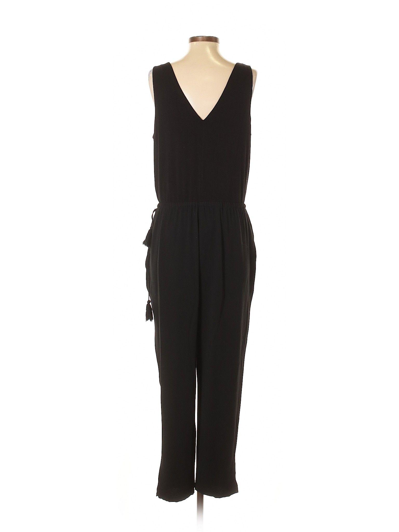 Ann Taylor Loft Jumpsuit Size 800 Black Womens Dresses 3999