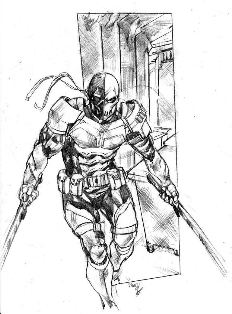 Deathstroke By Simon E Com Imagens Desenhos