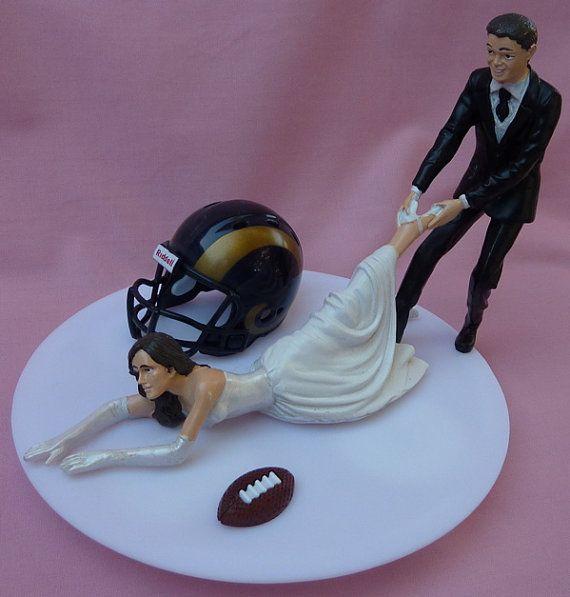 Wedding Cake Topper St Louis Rams Saint G Football By WedSet 6499