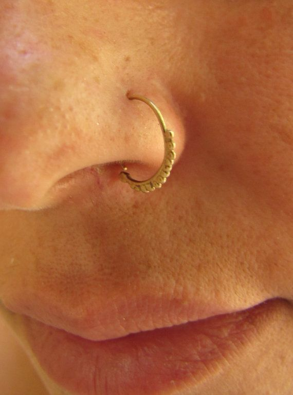 Indian nose ring by StudioMeme on Etsy $61 70