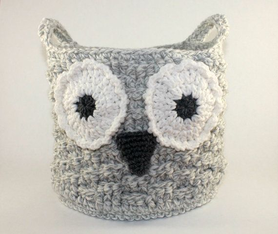 Owl Basket Crochet Owl Basket Crochet Storage Basket Owl Storage