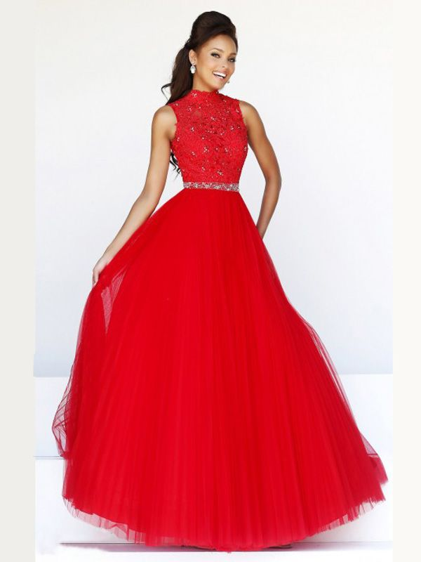 Robe tulle courte rouge