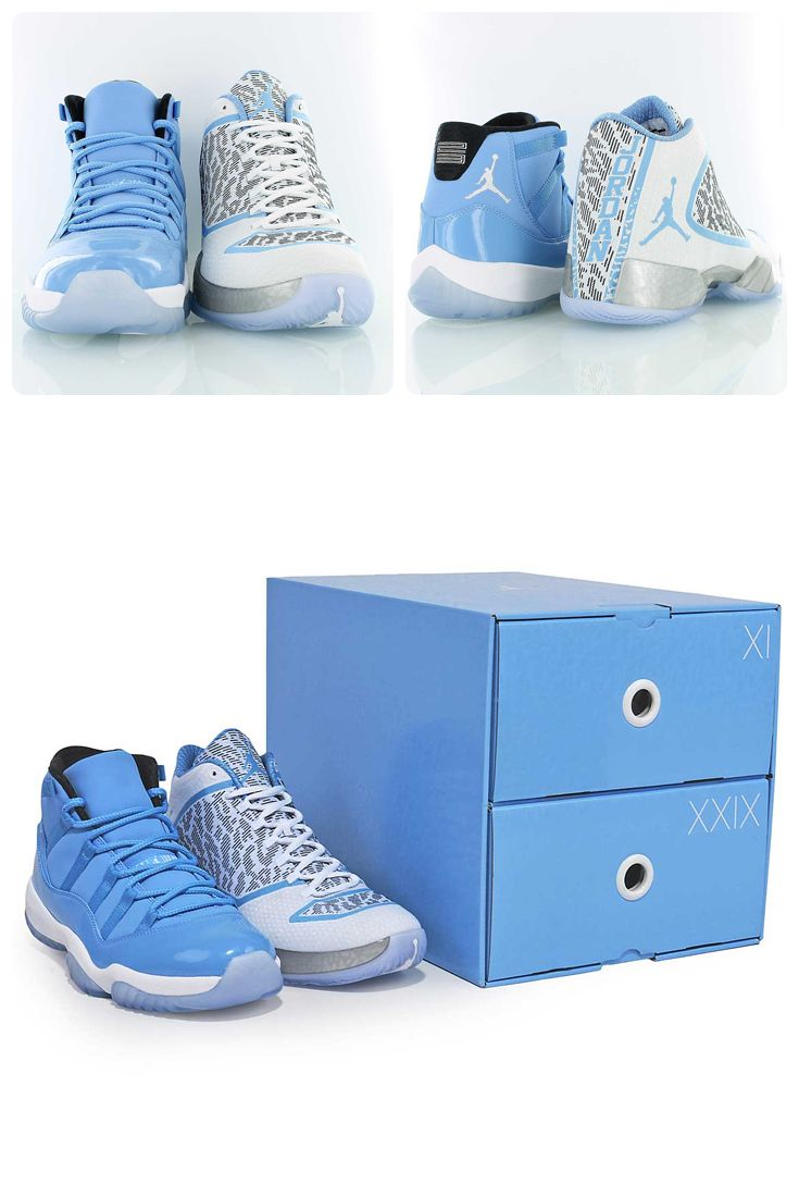 separation shoes 0b47d fd47b Jordan Gift of Flight Pack featuring Legend Blue versions of the legendary  Air Jordan 11 and the newest entry to the Jordan Family, the Air Jordan XX9