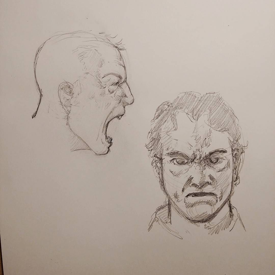 Facial expression practice anger art portrait face anger