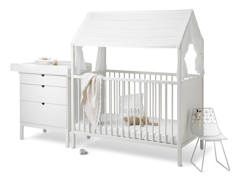 Stokke Kinderzimmer ~ Stokke home bett und wickeltisch weiß pretababy kinderzimmer