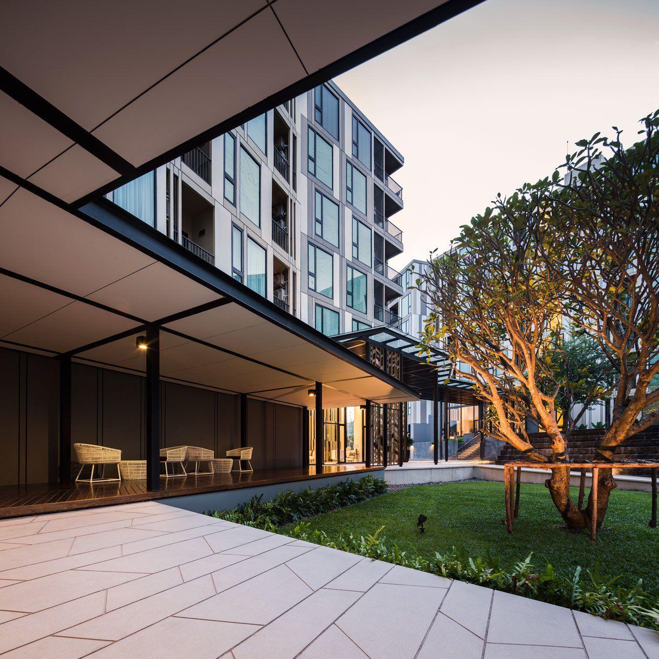 The Base Uptown Phuket Condominium by Sansiri. Architecture and Landscape design…