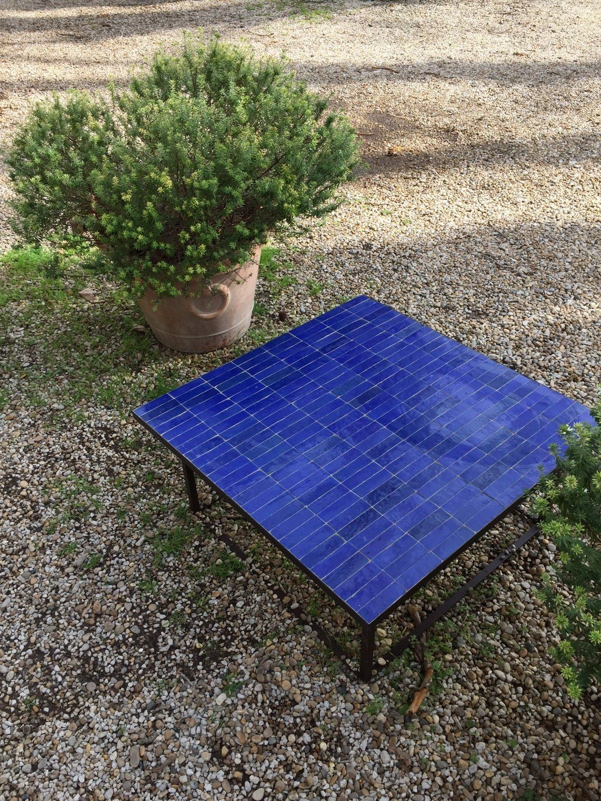 Art Sud Morrocan Tile Table Yves Klein Blue Do This In 2019