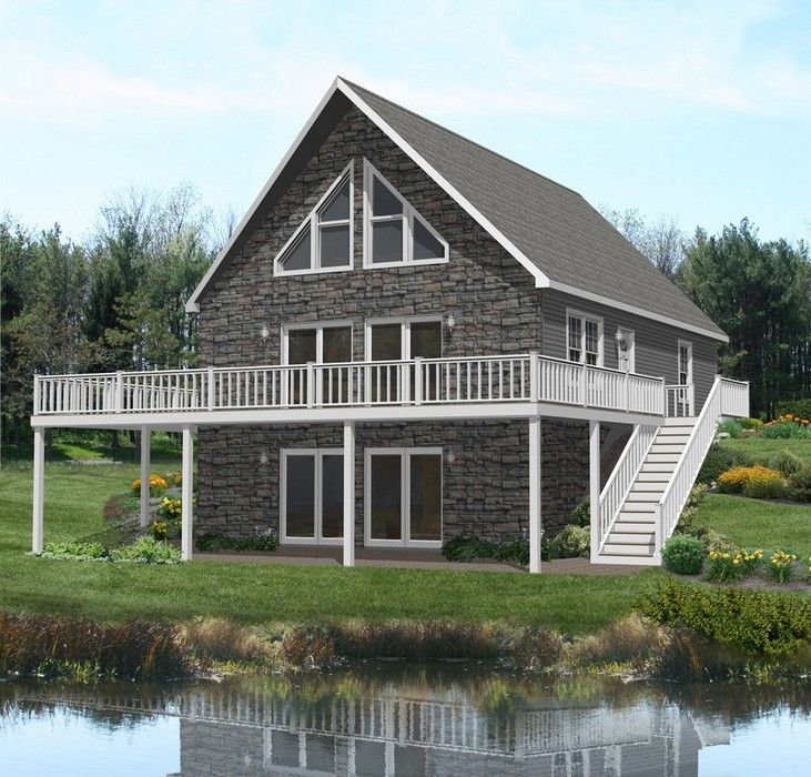Beautiful chalet for an adirondack camp exteriors for Chalet modular homes