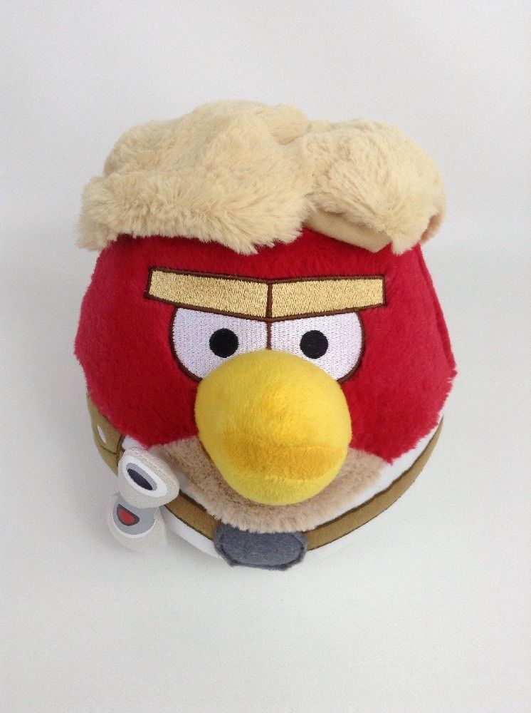 2012 Angry Birds Star Wars Luke Skywalker 7 Red Bird Plush