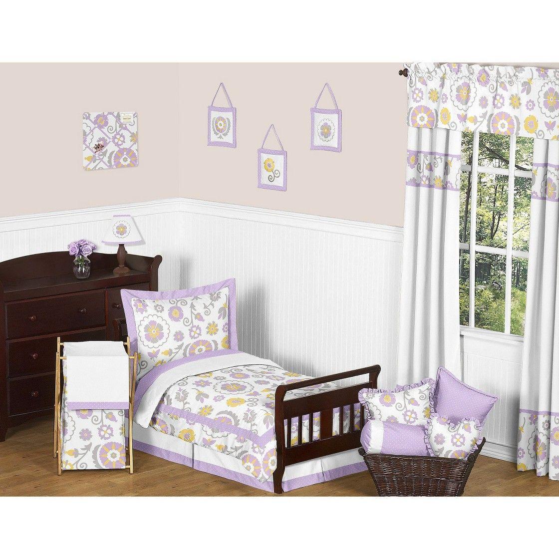 Sweet Jojo Designs 5pc Lavender Suzanna Toddler Bedding Set