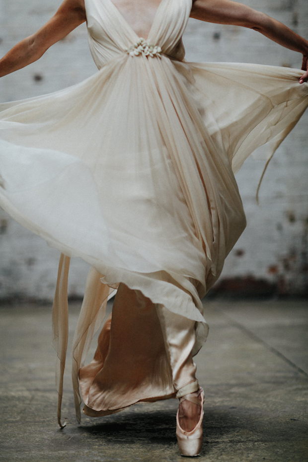 The way photographer, MK Sadler has captured these images is just stunning. Featuring ballerina Savannah Lowery, (from the New York City Ballet) who is pictured wearing two gorgeous wedding gowns by Samuelle Couture. The creative director & floral designer behind this beautiful shoot is Amy Osaba.