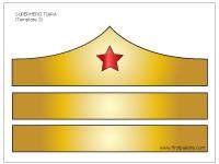 Colored Wonder Woman Tiara Template Aniversario Mulher Maravilha