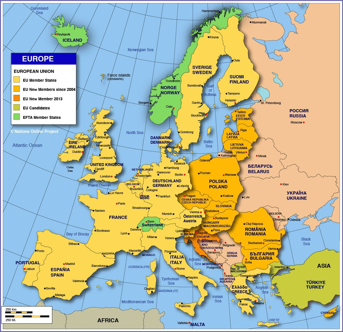 Europe Country Map – Europen Map