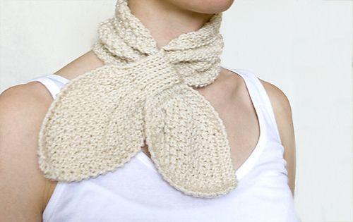 Double Moss Stitch Scarflette | Moss stitch, Scarf crochet ...