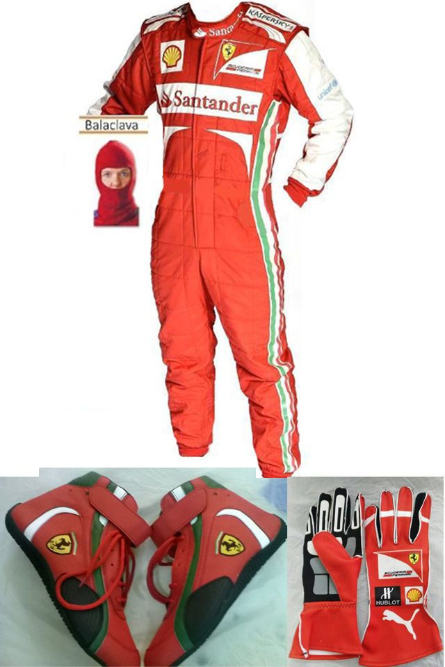 Go Kart Ferrari Race Suit Cik Fia Level 2 Approved Shoes With Free Gift Gloves Racing Suit Go Kart Racing Boots