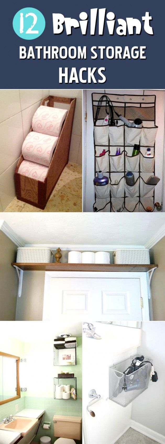 12 Genius Bathroom Storage Hacks