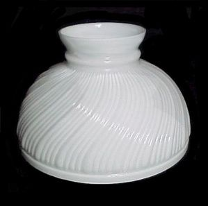 White Milk Glass Swirl 10 Quot Lamp Shade Genuine Aladdin