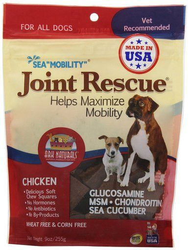 Ark Naturals Sea Mobility Joint Rescue Chicken Jerky Delicious Dog Chew Treat 9z Natural Pet Dog Chews Jerky