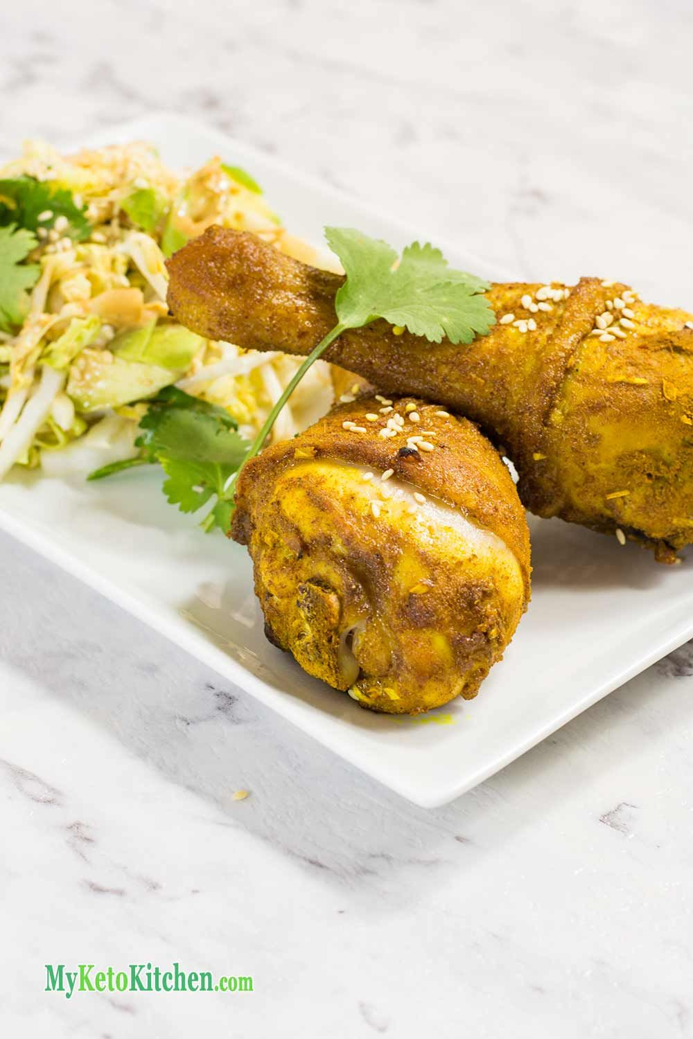 Indonesian Keto Chicken Drumsticks Deliciously Herbed