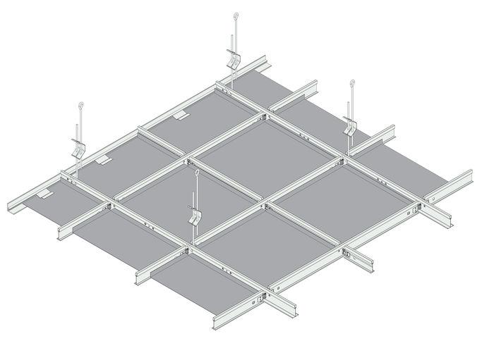 Knauf Amf Amf Mondena Metal Ceiling Solutions Metal Ceiling Exhibition Room Metal