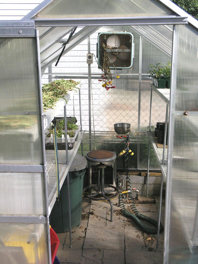 I Love This Site On Adding Shelving Made From Wire Closet Shelves To Your Hobby Greenhouse Greenhouse Plans Hobby Greenhouse Greenhouse