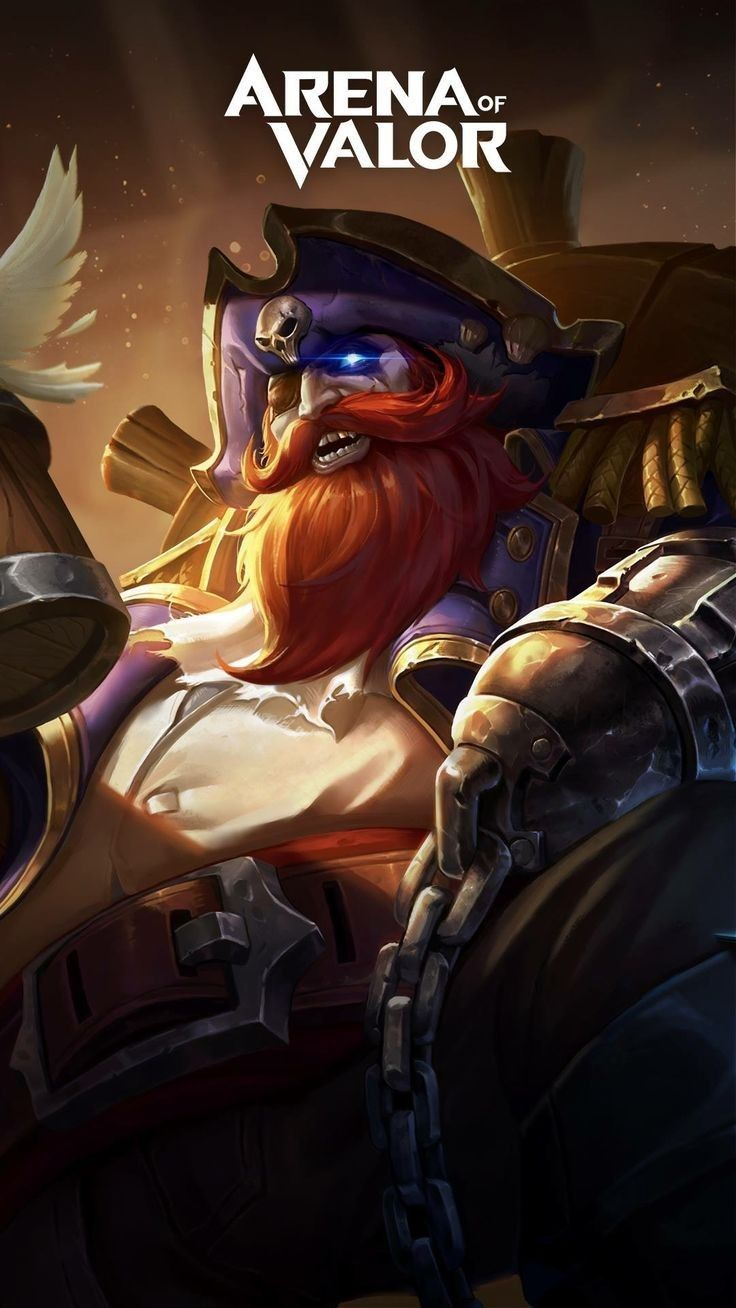 Grakk Pirate Skin Aov Arena Of Valor Wallpapers Pinterest Mobile Legends Wallpaper And Pirates