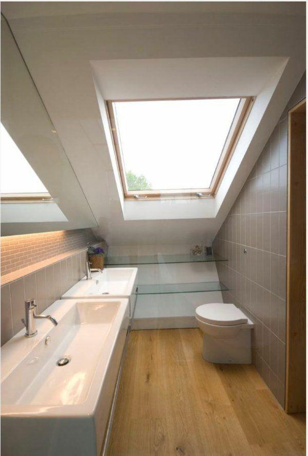 une ide pour votre salle de bain sous pente - Idee Amenagement Salle De Bain Sous Comble