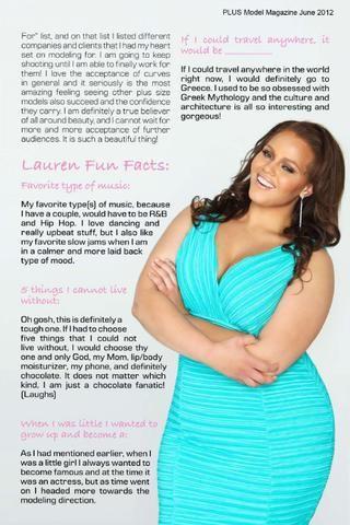 PLUS Model Magazine: June 2012 Plus Size Supermodel Issue Featuring Lauren Veluvolu - Sublime!!!!!!!!!