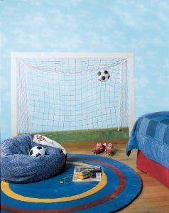 Amazon.com: York Wallcoverings York Kids IV BH1878M Soccer Goal Mural, Blue Background/Green: Home Improvement