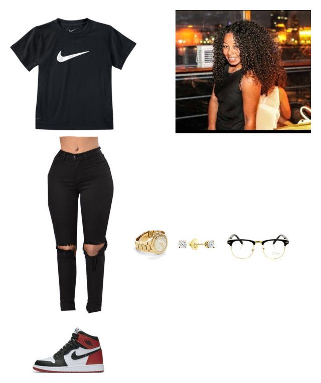 """It's been a while"" by marthaamaro ❤ liked on Polyvore featuring NIKE and Michael Kors"
