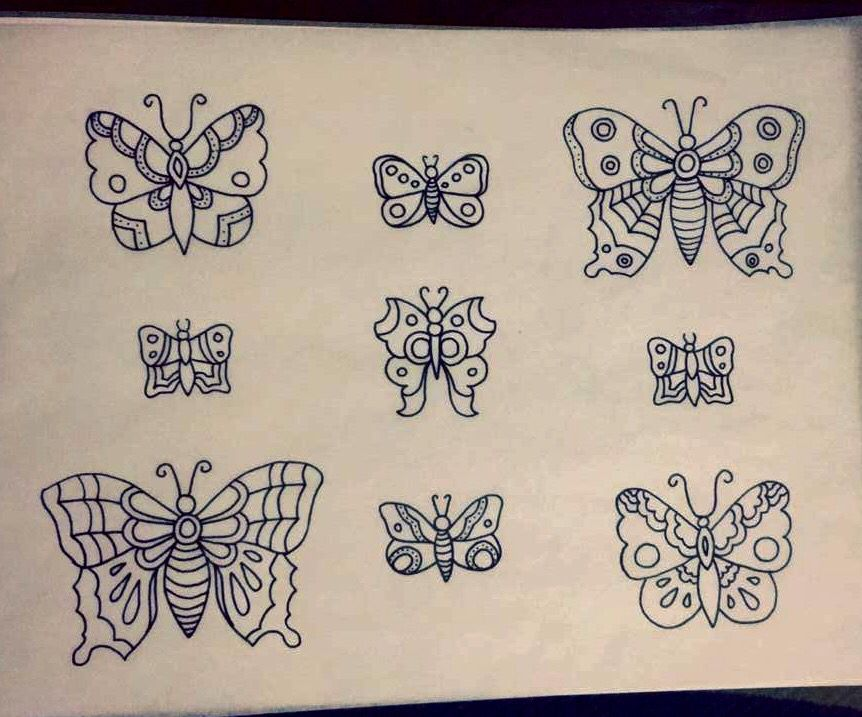Traditional Tattoo Line Drawing : Traditionaltattoo traditional tattoo butterfly flash outline