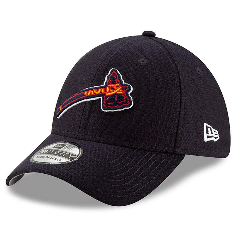 cheaper eb520 21cdb Atlanta Braves New Era 2019 Batting Practice 39THIRTY Flex Hat - Navy