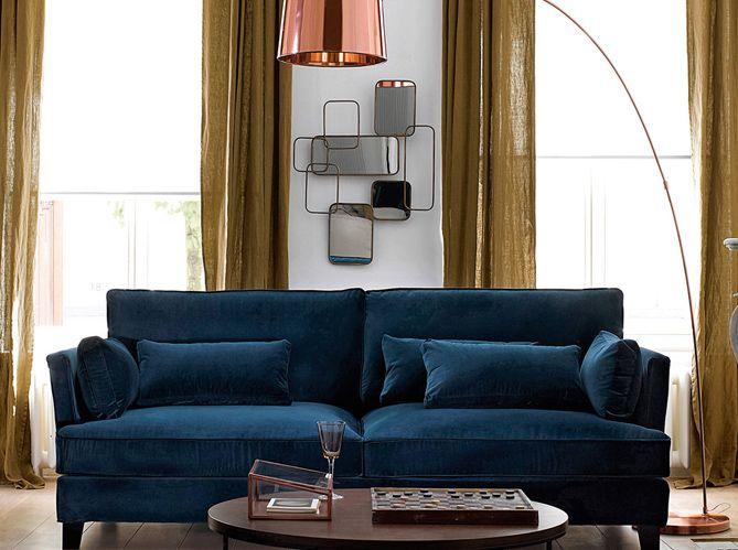 Le Jaune Moutarde Pimente Notre Interieur Canape Moutarde Canape Bleu Canard Canape Bleu