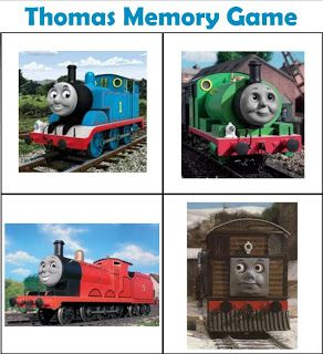 Free printable Thomas memory game