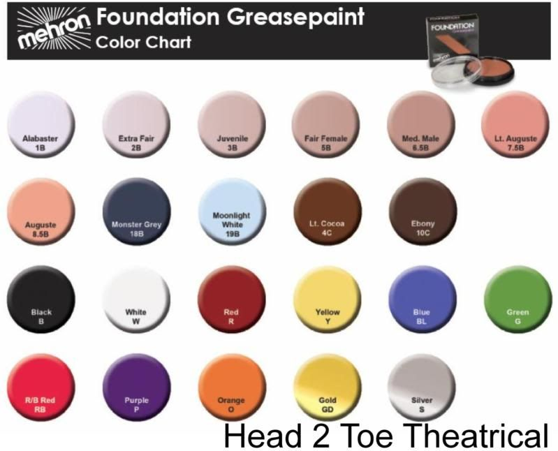 Pin by Head 2 Toe Theatrical on Mehron Performance Quality Makeup ...