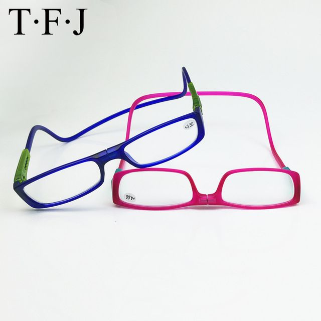 a6285606043c Hanging Neck Adjustable Magnetic Reading Glasses Men Women Eyewear Lazy  Presbyopia Glasses Magnet Diopter 1.0 1.5 2.0 2.5 3.0 Review