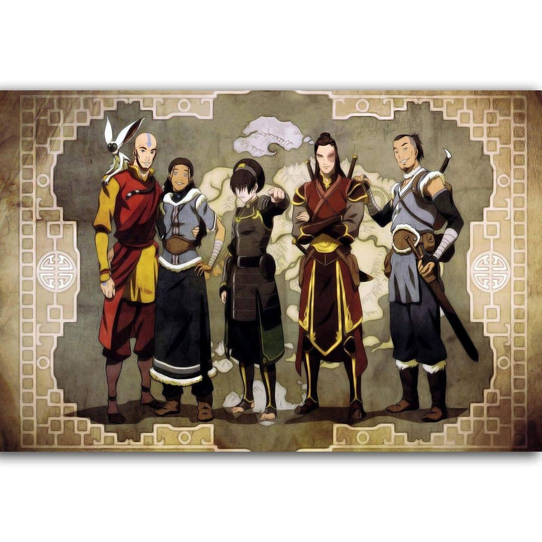 Unframed Printed Poster Hot Avatar: The Last Airbender Friends Anime Canvas Modern Oil Art Painting Home Wall Decal Photo