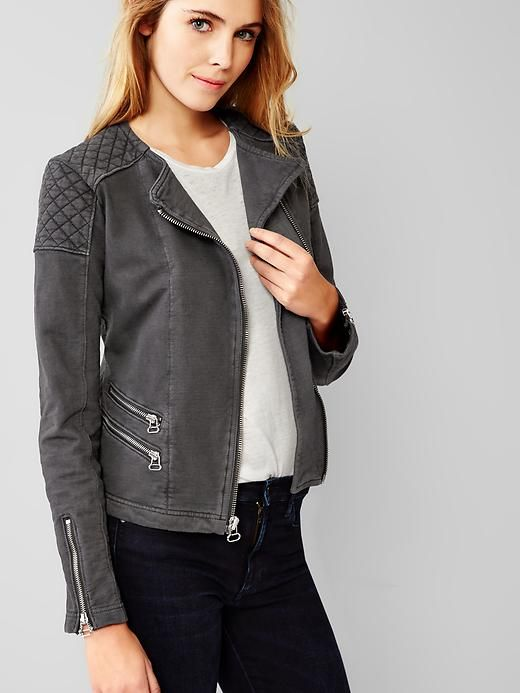 Quilted moto knit jacket Product Image   Style   Pinterest   Knit ... : quilted moto jacket - Adamdwight.com