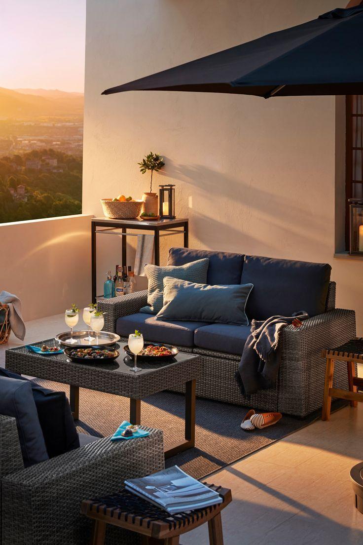 2er Sitzelement Aussen Solleron Braun Froson Duvholmen Beige Ikea Deutschland Im Sommer Verbringen Wir Gerne Z Outside Room Trendy Living Rooms Outdoor Decor