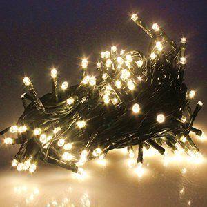PMS No l Guirlande lumineuse LED 200 Blanc Chaud LEDs sur C¢ble